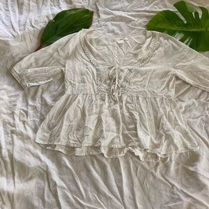 Free people small cotton Bohemian top